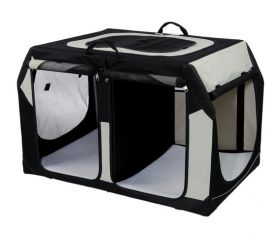 Variable Doppel Pet Transportbox - Hunde Transportbox