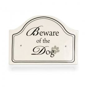 Keramik Hundeschild beware of the dog