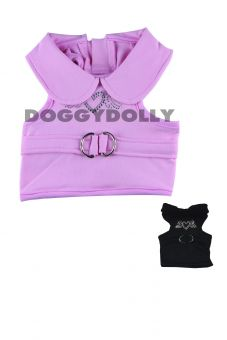 Hunde Softgeschirr Brustgeschirr Stretch pink oder black
