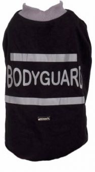 Hundeshirt Bodygard black white